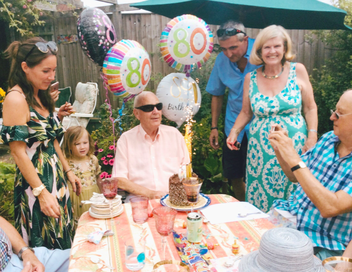 <em>Mrs Whaley supported her husband, here celebrating his 80th birthday, on deciding to take his own life (Dignity In Dying)</em>