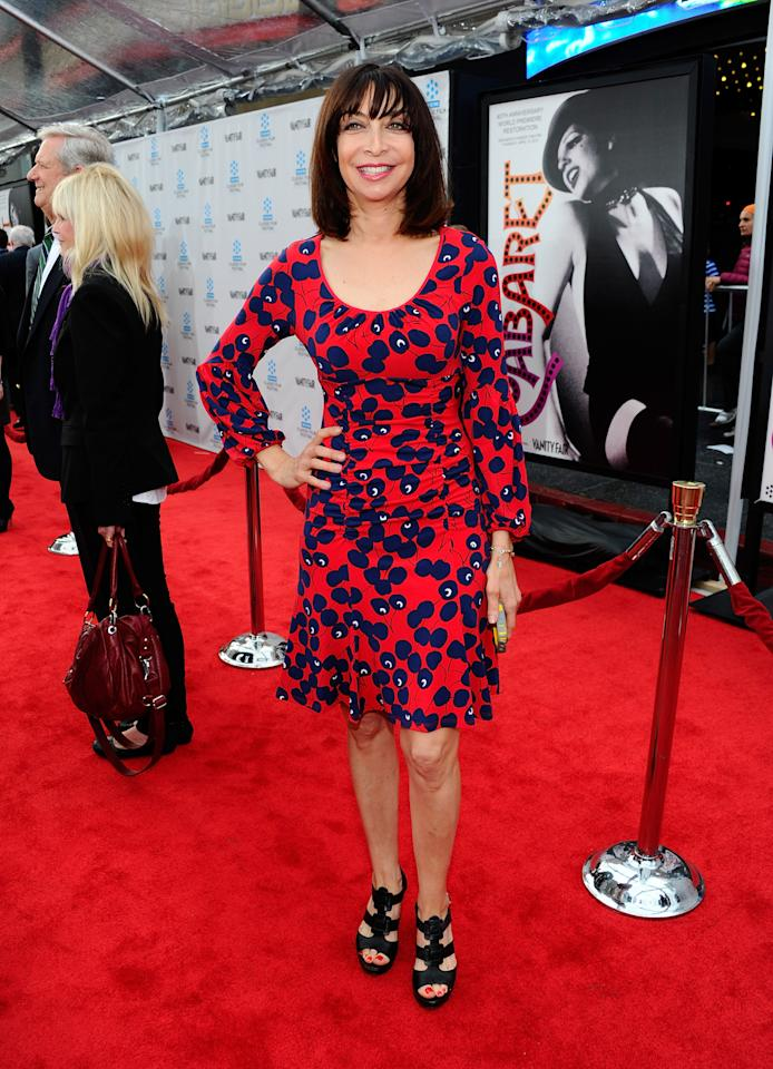 "HOLLYWOOD, CA - APRIL 12:  Actress Illeana Douglas arrives at the TCM Classic Film Festival opening night premiere of the 40th anniversary restoration of ""Cabaret"" at Grauman's Chinese Theatre on April 12, 2012 in Hollywood, California.  (Photo by Alberto E. Rodriguez/Getty Images)"