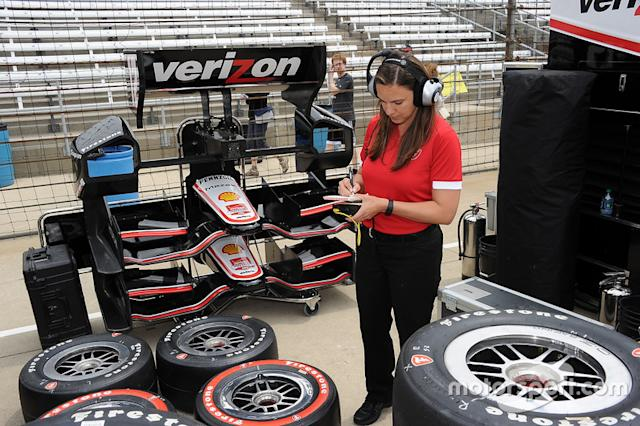 "Cara Adams has risen the Firestone/Bridgestone ranks to become director of race tire engineering and production. <span class=""copyright"">Firestone</span>"