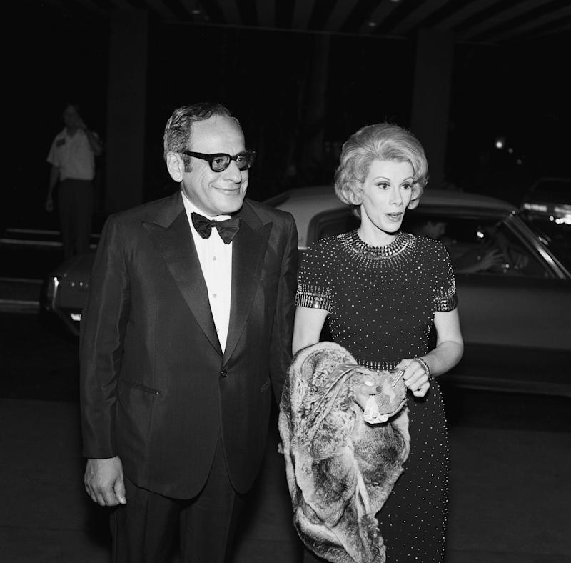 "Producer Edgar Rosenberg and Joan Rivers during the ""Tonight Show Starring Johnny Carson"" 10th Anniversary party on September 30, 1972. (NBC/NBCU Photo Bank via Getty Images)"