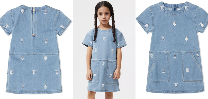Burberry Kids monogram-embroidered denim dress(HK$3,200)