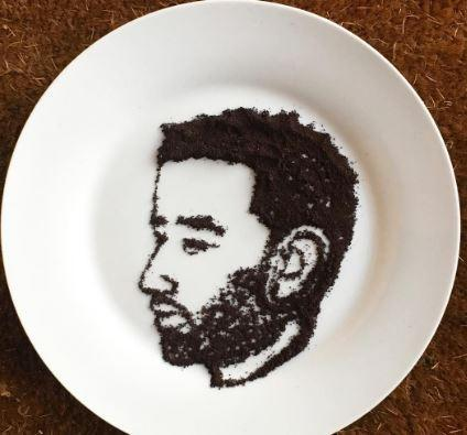 These celebrity food portraits of Amy Winehouse, John Legend, Serena Williams, and more are so stunning