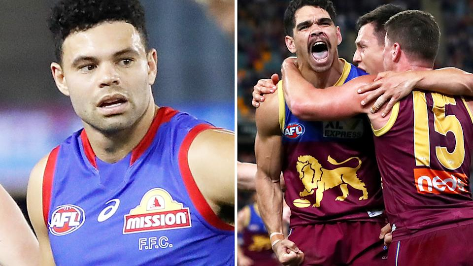 The Western Bulldogs were knocked out of the AFL top four on percentage by Brisbane.