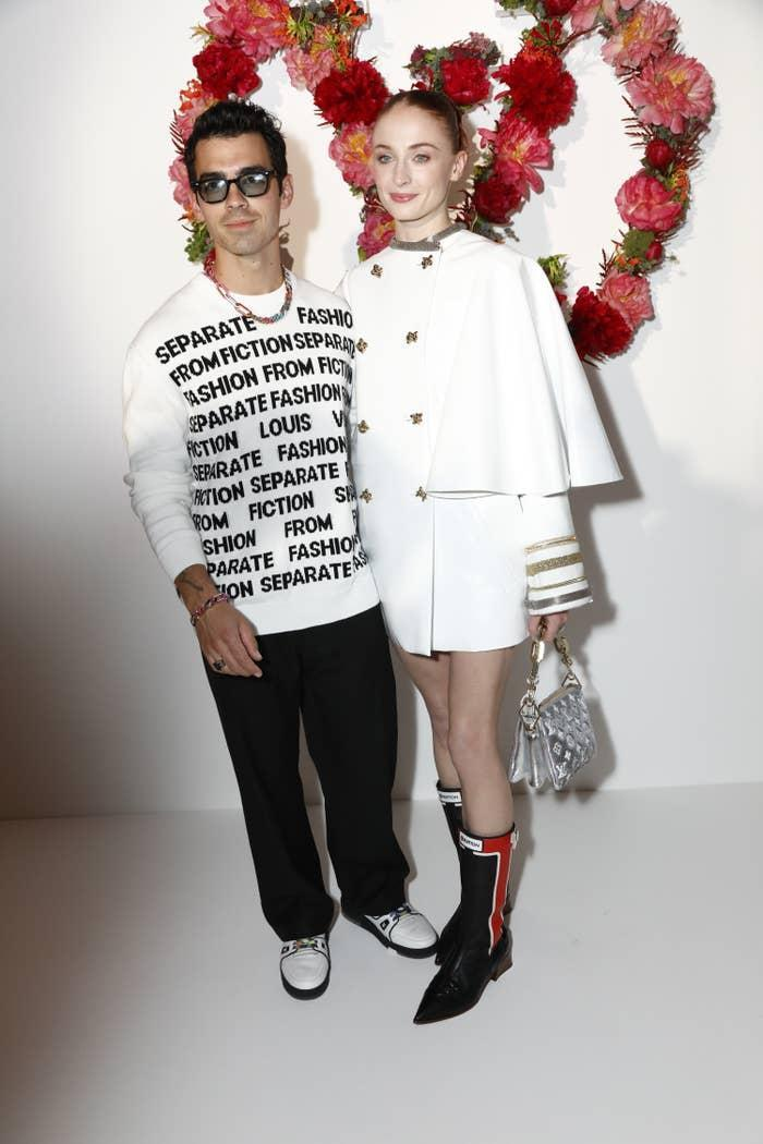 Joe Jonas and Sophie Turner are photographed together at a Louis Vuitton event in Paris
