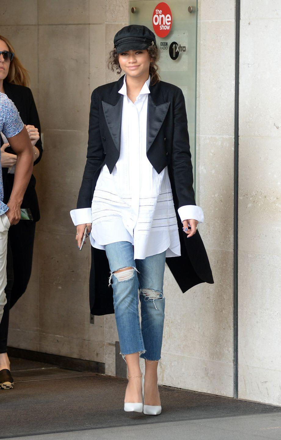 <p>A pair of distressed denim jeans is something everyone should own. The can be paired with anything and the holes in the knees make for just the right amount of distressing. </p>