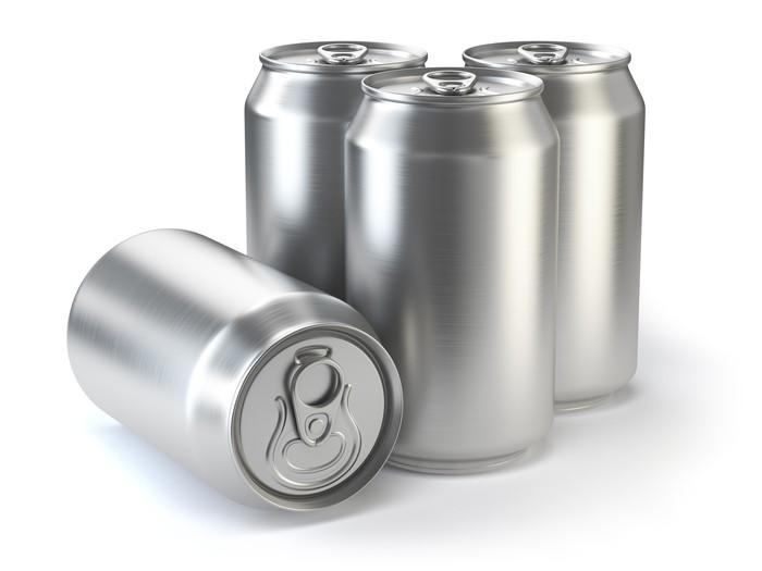 Aluminum beer cans.