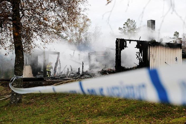 The attack targeted a building housing 14 migrants in Munkedal, a normally quiet town of 10,000 inhabitants in southwestern Sweden (AFP Photo/Adam Ihse)