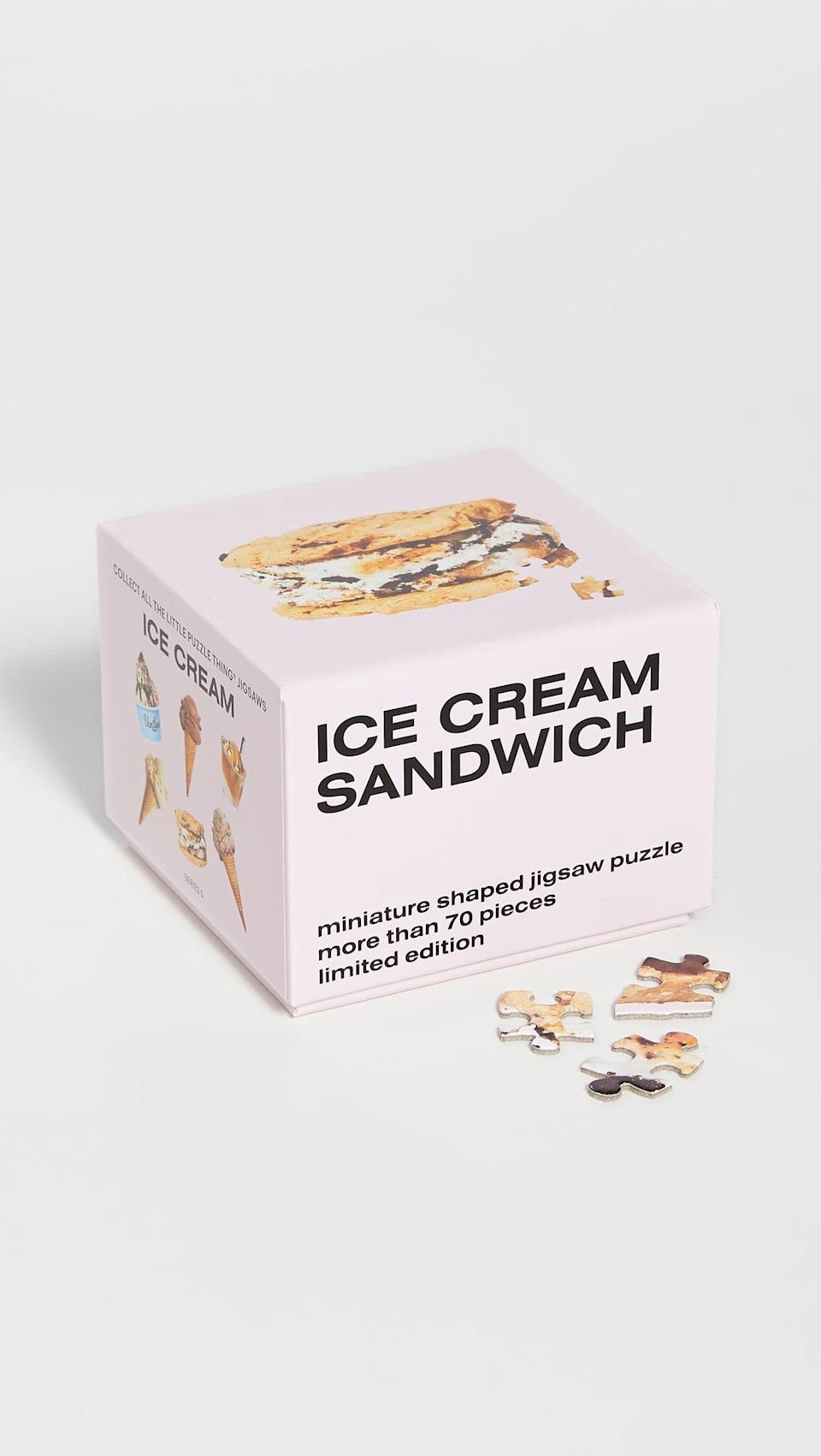 <p>This <span>Shopbop Home VanLeewan Ice Cream Sandwich Puzzle</span> ($15) is so fun.</p>