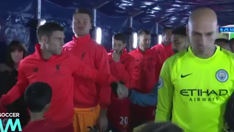 VIDEO: James Milner & Gael Clichy Share Terribly Awkward Fist Bump in the Etihad Tunnel