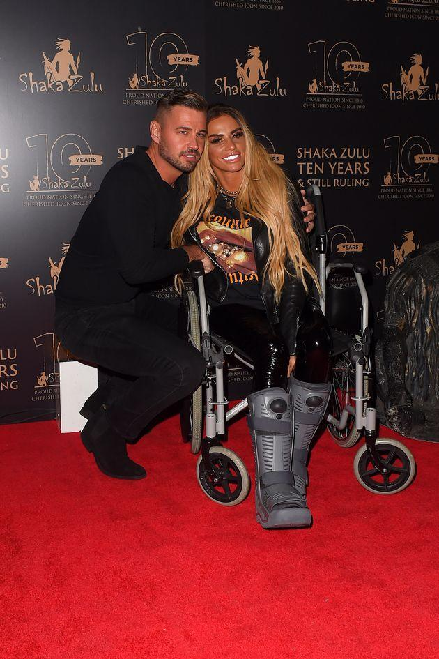 Carl Woods and Katie Price (Photo: Ricky Vigil M via Getty Images)