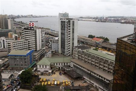 A view is seen of the Nigeria stock exchange building in the central business district in Lagos