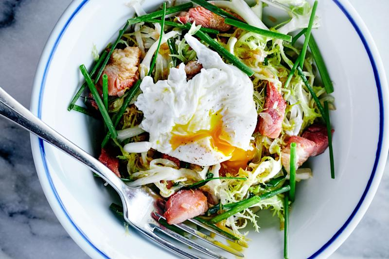 What's a frisée salad without the poached egg on top?