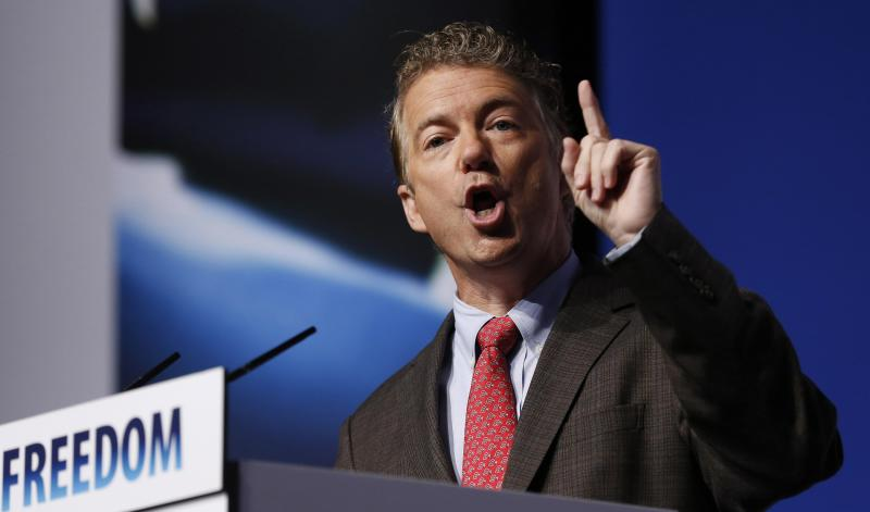 "U.S. Sen. Rand Paul speaks during the second day of the 5th annual Faith & Freedom Coalition's ""Road to Majority"" Policy Conference in Washington"
