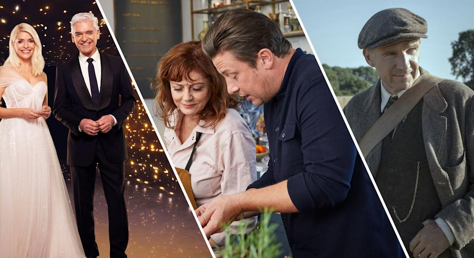 Dancing On Ice, Friday Night Feast and The Dig should keep you going this weekend. (ITV/C4/Netflix)