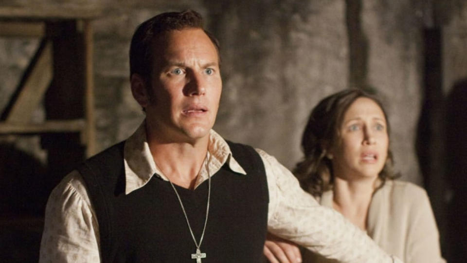 The extended movie world around <em>The Conjuring</em> has effectively become horror's answer to the MCU since James Wan's first film became a box office hit in 2013. This third movie in the main franchise sees Wan replaced in the director's chair by Michael Chaves, with Patrick Wilson and Vera Farmiga back as the husband and wife paranormal investigators Ed and Lorraine Warren. The film will tell the story of the notorious, real-life trial of Arne Cheyenne Johnson, in which demonic possession was used as a defence to a charge of murder. (Credit: Warner Bros)
