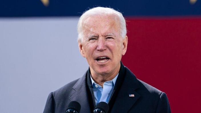 """In a statement regarding police-fueled violence in Lagos, former Vice President Joe Biden said America """"must stand with Nigerians who are peacefully demonstrating for police reform and seeking an end to corruption in their democracy."""" (Photo by Drew Angerer/Getty Images)"""