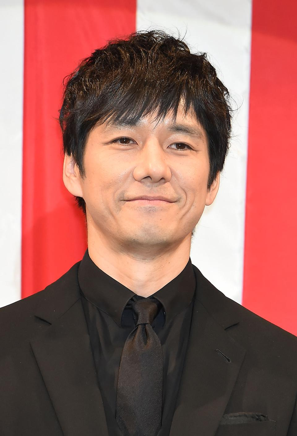 TOKYO, JAPAN - MARCH 14:  Hidetoshi Nishijima attends the 'Dumbo' Premiere at the Yamano Hall on March 14, 2019 in Tokyo, Japan.  (Photo by Jun Sato/WireImage)