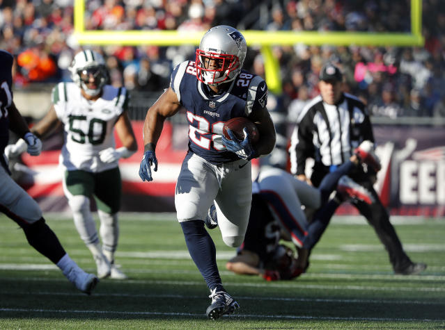 James White will be one of Brady's favourite outlets as the Patriots bid to reach the AFC Championship