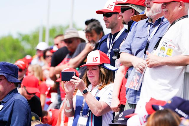 Quick, before he reaches turn five: Lance Stroll fans get a rare photo of their boy in action at the 2018 Canadian Grand Prix