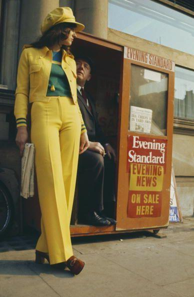 <p>Only in the '70s could you look like a human banana and still be runway-ready.</p>