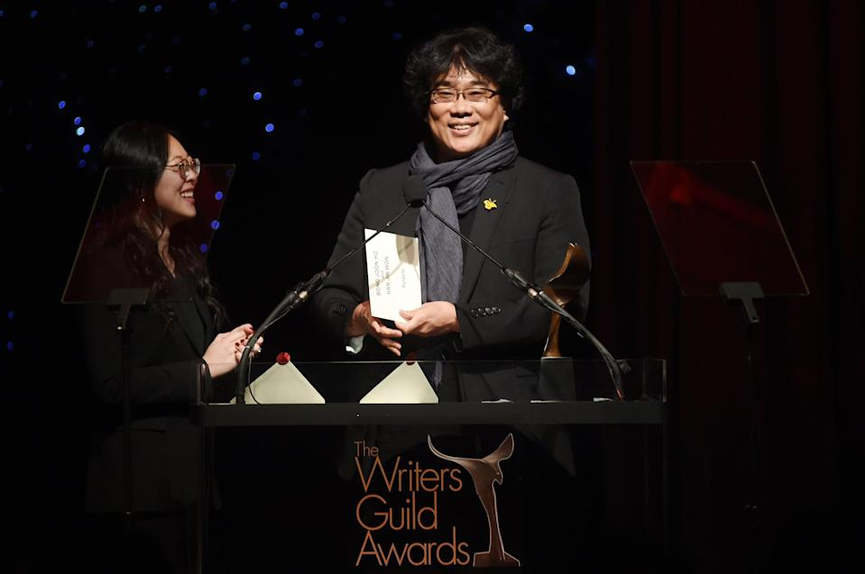 """<p>The Writers Guild of America will <a href=""""http://awards.wga.org/awards/show-details"""" class=""""link rapid-noclick-resp"""" rel=""""nofollow noopener"""" target=""""_blank"""" data-ylk=""""slk:air on March 21, 2021"""">air on March 21, 2021</a>.<br></p>"""