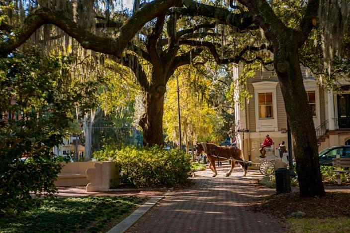 """<p><strong>Established in:</strong> 1733</p><p>The charming city of Savannah is the oldest in the state and was the <a href=""""https://www.visitsavannah.com/article/history-savannah"""" rel=""""nofollow noopener"""" target=""""_blank"""" data-ylk=""""slk:13th and final American colony"""" class=""""link rapid-noclick-resp"""">13th and final American colony</a>. In 1733, General James Oglethorpe landed on the Savannah River, and named the colony """"Georgia"""" after England's King George II. </p>"""