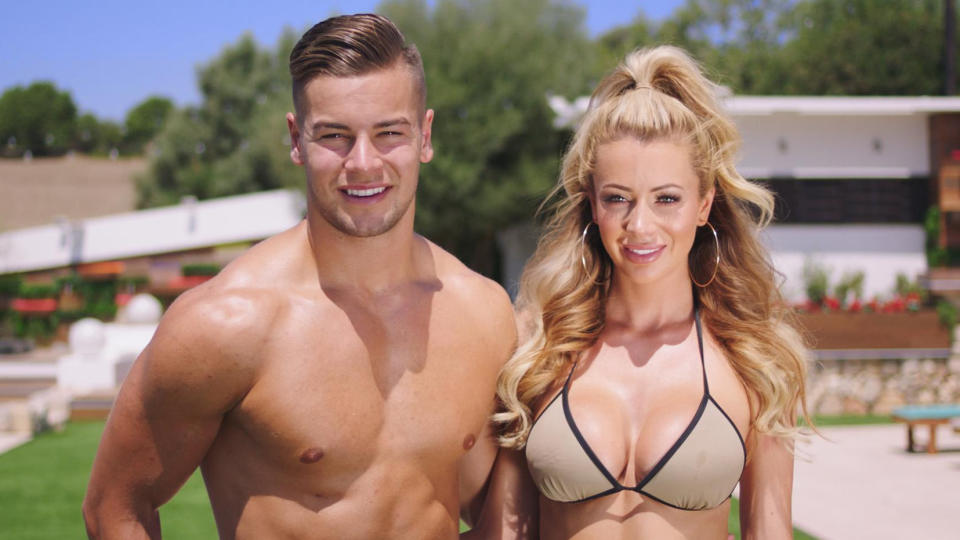 Olivia Attwood and Chris Hughes finished in third place on the 2017 series of 'Love Island'. (ITV)