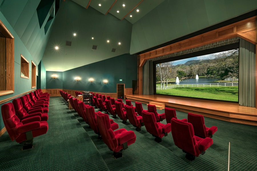 Neverland Ranch has its own movie theater. (Photo: Compass)