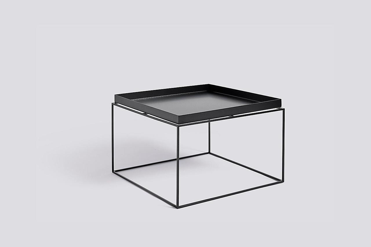 """$195, HAY. <a href=""""https://us.hay.com/furniture/tables/coffee-tables/tray-coffee-table/100127993.html?lang=en_US&mrkgcl=1231&mrkgadid=3325128428&adpos=4o22&creative=321415405336&device=c&matchtype=&network=g&gclid=EAIaIQobChMItoaLyMLd5AIVCp-fCh2ZwQ_5EAkYFiABEgImV_D_BwE"""">Get it now!</a>"""
