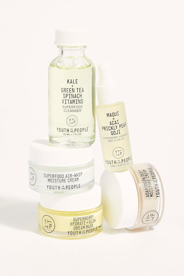 """<p>If they're totally into skincare, treat them to this <a href=""""https://www.popsugar.com/buy/Youth-People-Youth-Minis-Kit-504284?p_name=Youth%20to%20the%20People%20The%20Youth%20Minis%20Kit&retailer=freepeople.com&pid=504284&price=48&evar1=moms%3Aus&evar9=26199872&evar98=https%3A%2F%2Fwww.popsugar.com%2Fphoto-gallery%2F26199872%2Fimage%2F46784682%2FYouth-to-People-Youth-Minis-Kit&list1=holiday%2Cgift%20guide%2Cchildcare%2Choliday%20for%20kids%2Cgifts%20for%20women%2Cgifts%20under%20%2450%2Cgifts%20for%20teens&prop13=api&pdata=1"""" rel=""""nofollow"""" data-shoppable-link=""""1"""" target=""""_blank"""" class=""""ga-track"""" data-ga-category=""""Related"""" data-ga-label=""""https://www.freepeople.com/shop/youth-to-the-people-the-youth-minis-kit/?category=gifts-shop-all&amp;color=000"""" data-ga-action=""""In-Line Links"""">Youth to the People The Youth Minis Kit</a> ($48).</p>"""