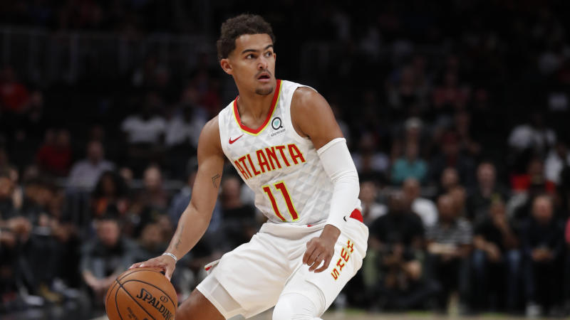 Hawks guard Trae Young is looking to improve on a standout rookie season. (AP Photo/John Bazemore)