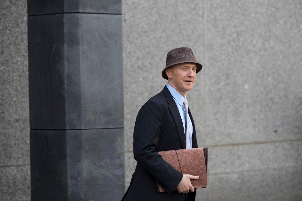 Carter Page arrives at the United States District Court Southern District of New York on April 16, 2018, in New York City. (Photo: Drew Angerer via Getty Images)