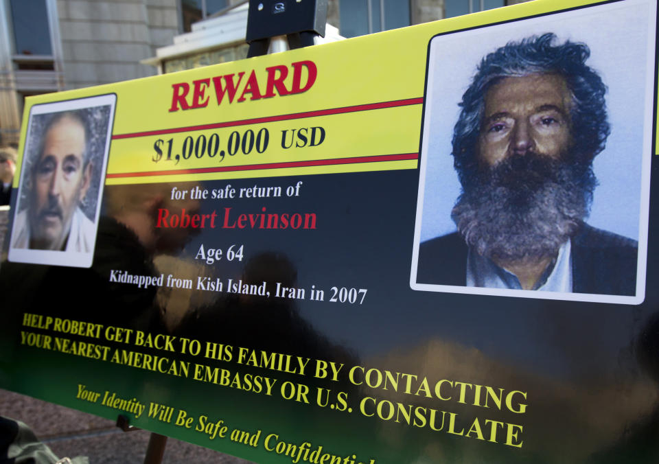 FBI poster showing Robert Levinson in 2012. (Manuel Balce Ceneta/AP)