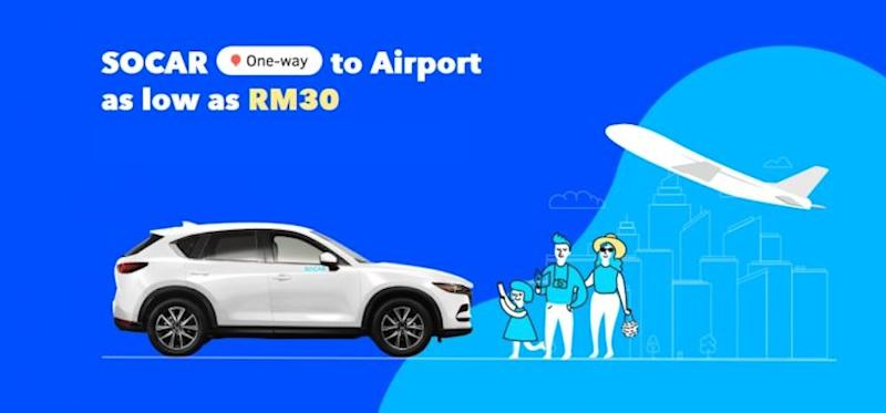 Did you know that you can book a SOCAR for a one-way trip to KLIA and KLIA2? — SoyaCincau pic