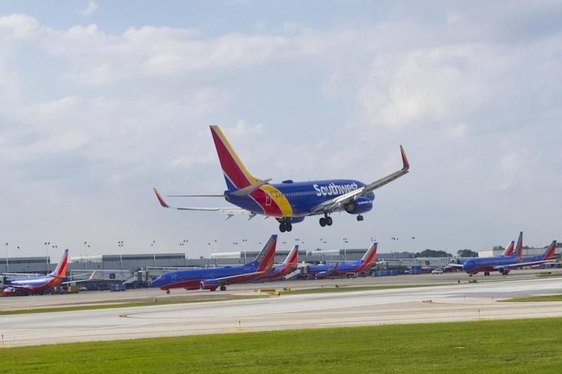A couple were caught having sex on a Southwest airlines flight (file photo): AFP/Getty Images