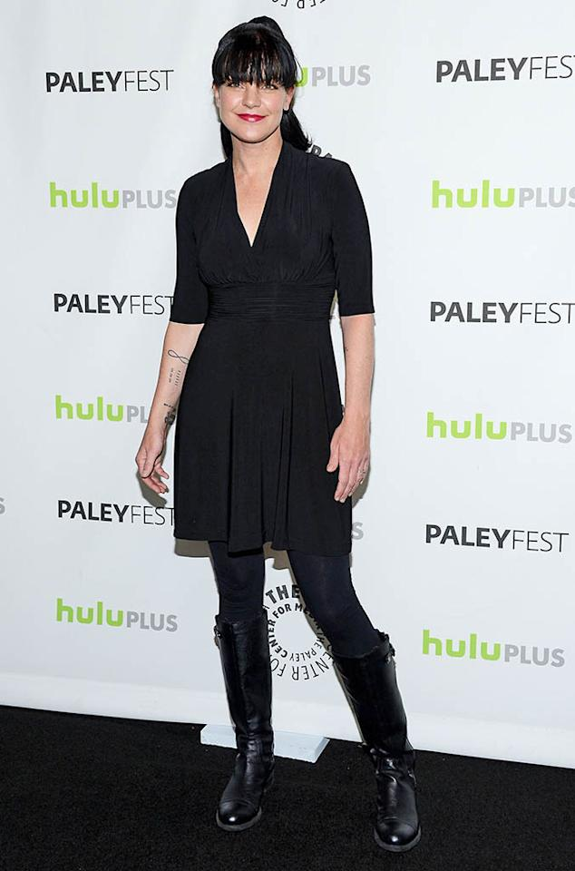 "Pauley Perrette attends the 30th Annual PaleyFest featuring the cast of ""The Big Bang Theory"" at the Saban Theatre on March 13, 2013 in Beverly Hills, California."