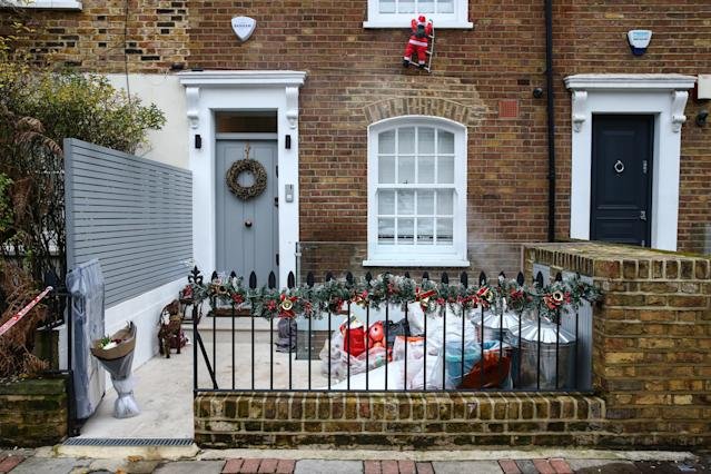 The crime scene where Flamur Beqiri, 36, was murdered on December 27 (Picture: Getty)