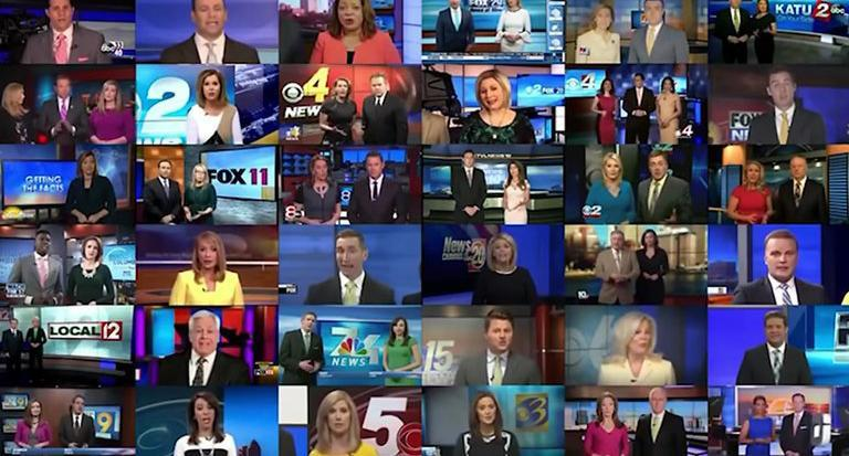 Sinclair Broadcast Group sent a uniform promotional message script to nearly 200 local channels. (Photo: Via YouTube)