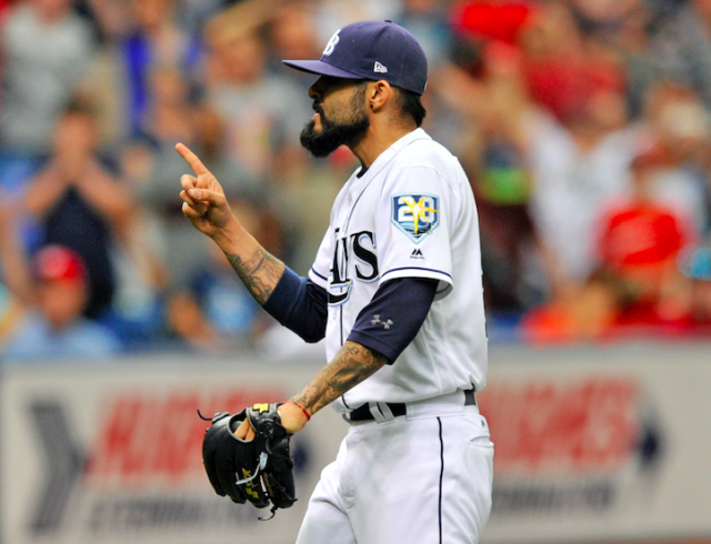 Sergio Romo had some words for Michael A. Taylor following Tuesday's game. (AP Photo)