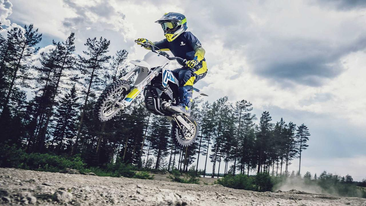 """<p>Silly rabbit, the EE5 is for kids! Earlier in 2019, Husqvarna launched its first electric dirtbike, the <a href=""""https://www.rideapart.com/articles/357047/husqvarna-goes-electric-its-adorable/"""">EE5</a>—the perfect starter bike for the mini rider in your family. The tiny electric motorcycle uses a 907 Wh battery and offers a ride time of up to 25 minutes (at full throttle). Power is rated at 5 kW or 6.7 horsepower. The battery regains 80 percent of its charge within 45 minutes (a full charge takes a little over an hour).</p> <h2>Read More:</h2><br><a href=""""https://www.rideapart.com/articles/388911/ktm-husqvarna-future-models-document-presentation/"""">Husqvarna Is Preparing New Street Bikes, Including Classics And ADVs</a><br><a href=""""https://www.rideapart.com/articles/388399/husqvarna-norden-901-adv-overview/"""">Husqvarna Norden 901: Everything We Know</a><br>"""