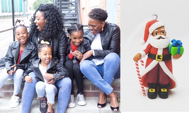 Two working mums are making Christmas decorations more inclusive after launching a range of figurines of colour [Photo: March Muses]