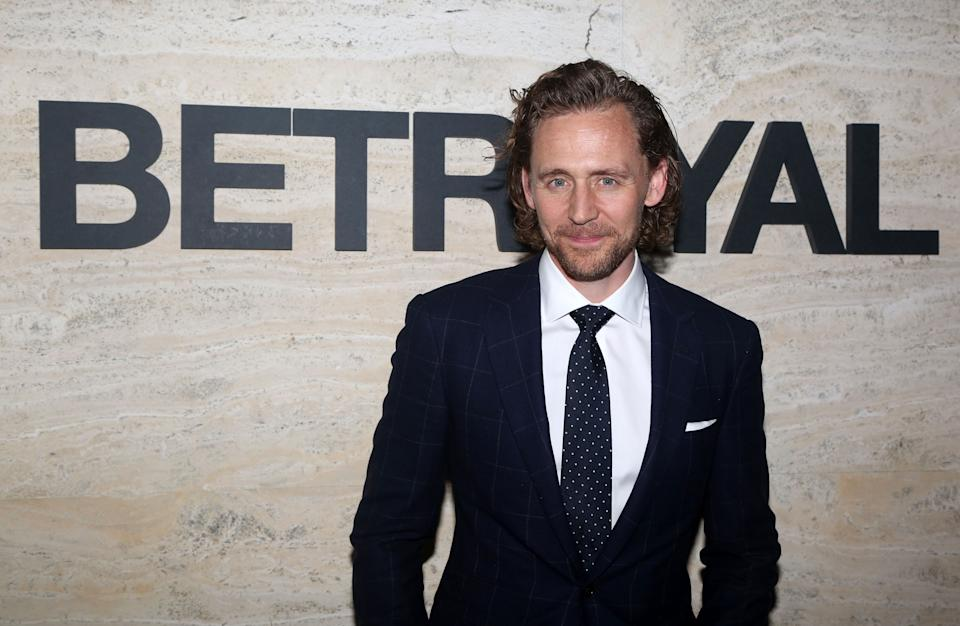 """Tom Hiddleston poses at the opening night of """"Betrayal"""" on Broadway on September 5, 2019. (Photo by Bruce Glikas/WireImage)"""
