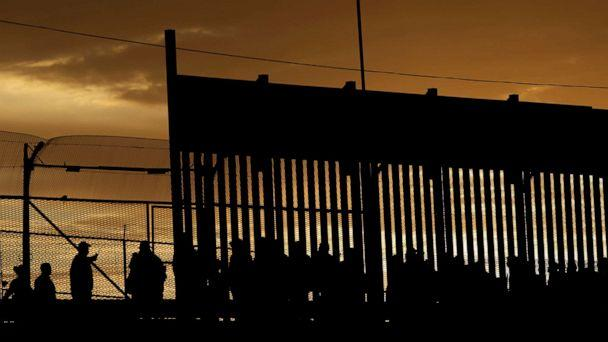 PHOTO: Migrants listen to U.S. Customs and Border Protection officials after crossing illegally into the United States to request asylum in El Paso, Texas, April 5, 2019. (Jose Luis Gonzalez/Reuters)