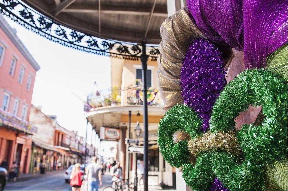 """<p>While rain delays are common, the event has only been canceled a handful of times, such as during the two World Wars and an outbreak of Yellow Fever in the 1870s, <a href=""""http://double-barrelledtravel.com/mardi-gras-world-new-orleans/"""" rel=""""nofollow noopener"""" target=""""_blank"""" data-ylk=""""slk:according to Double-Barrelled Travel"""" class=""""link rapid-noclick-resp"""">according to Double-Barrelled Travel</a>. In the greater New Orleans area in 2021, parades have been canceled due to the Covid-19 pandemic (but the heart of the holiday, king cakes, and music, will still go on). To find out what activities are being practiced safely in 2021, <a href=""""https://www.mardigrasneworleans.com/"""" rel=""""nofollow noopener"""" target=""""_blank"""" data-ylk=""""slk:click here"""" class=""""link rapid-noclick-resp"""">click here</a>.</p>"""