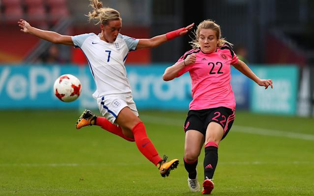 "Jordan Nobbs is a fantastic footballer, the best in the country according to her peers, a future captain of the national team and the creative spark that has ignited England at the European Championship. Yet you probably would not recognise her even if you were sharing a lift. She will never be a millionaire – the very suggestion makes her laugh. Top women players are on £35,000 a year – a fraction of the weekly wage of their top male counterparts. She will not be able to retire when her playing career is over and she will never know a celebrity lifestyle. Perhaps that is why, at the age of 24, the Arsenal player has an unquenchable thirst for improvement. Maybe that is why the women's team have made such vast progress over the last few years. There is a hunger and a determination that, unlike with their male counterparts, has been undimmed by premature financial rewards. It is a comparison Nobbs does not like to dwell on, because it is, as far as she is concerned, a futile debate. Yet, for those who have witnessed so many young Englishmen fail to realise their potential, it remains a pertinent one. Jordan Nobbs in action against Spain Credit: AFP When the Lionesses finished third at the World Cup two years ago, they took a huge step forward. But rather than congratulate themselves on that achievement, they immediately turned their attention to surpassing it at the Euros. With three wins out of three to top their group, they take on France in the quarter-final on Sunday, a team they have not beaten since 1974. But this feels like a different England. ""The hunger is there,"" said Nobbs, whose father Keith was a no-nonsense, bruising centre-back for Hartlepool United. ""There are a few of us who won the Under-19s Euros and, even as kids, we had that determination and drive. We've kept that with us at senior level, we've not changed since we were kids and I truly believe that is why we are where we are now. We believe in ourselves and we believe in being winners, to push ourselves to being the very best. ""I want to be pushed as a player, challenged. I want to get better, I'm not the finished article at 24. There are still improvements to be made. I had to leave Sunderland when I was young because they didn't get into the Super League. I had to join a club like Arsenal, but I knew that would bring out the best in me. I think we're all like that. I don't think I'll ever be a multi-millionaire. For the men, it's different. I suppose the fact they get so much money, so young, it could make you lose that hunger, but it's difficult for me to judge something like that. The England women's team Credit: AFP ""It's a completely different game, I don't really like to draw comparisons. ''It is very hard to compare men's and women's football. We just want to have our own sport, really. If we start comparing the money in football, it would be silly. ""They do get the television coverage and fans in huge numbers, I think all we can do is really push the women's game as much as we can. ""If one day, it does become that big, hopefully we can keep the same drive in the young kids who have talent. You have to keep that inner drive and determination, or you won't be successful, either as a team or as an individual. I don't see that changing for the women's game."" Jordan Nobbs It would be travesty if it did, but the women's game has never been in a better place in England. There are more people watching than ever before – 2.3 million have tuned in on Channel 4 for each of the group games, a significant rise on the figures for the World Cup – and the national team have never played so well. When Mark Sampson's team travelled to Holland, they were talked about as potential winners, but more importantly, as they prepare to take on their old nemesis France, they have played like it too. From the moment they arrived, the Lionesses have swaggered. They sauntered their way through the first three games, flaunting their talent against Scotland, grinding out a result against Spain, before a routine win over Portugal to finish top of Group D. Jordan Nobbs (left) and Demi Stokes (right) Credit: PA Throughout it all they have maintained an air of steely determination. Each win has been greeted by muted celebrations, their joy short-lived. After three games only half the job is done and France will be the best team they have faced so far. ""We have a very similar team to the one that went to the World Cup,"" explained Nobbs. ""But even though we came out of that having performed well, we are two years further down the line and we have improved a lot. ""I think this is the first time we truly believe we can win a tournament. I think people are really fearing England in this tournament and we're in a really good place as a group. To win all three of our group games, it shows how hard we have been working. ""We are confident and we wouldn't be this confident if we didn't think it was a realistic goal. The players we have, the support system we have the staff, it's been terrific. We know we can win this tournament and I think with our performances we have shown we can beat the best teams in the world. Jordan Nobbs in action for England against Scotland Credit: GETTY IMAGES ""I just think if you don't believe, you're bluffing and you're going to be found out in the end. It's not just what we have done in Holland, it's what we have been doing other the last couple of years. ""We're not fazed by having to play France. We're ready. Whatever challenges come our way, we are ready to face it. Mark's tactics are spot on, they have been whoever we have faced over the last couple of years. We know there are going to be tough games ahead."" Nobbs is still young and has her best years ahead of her, but like all of squad, she always has one eye on the bigger picture. It is not just about what they can do for themselves, it is about what they can do for the sport in general. ""We have had a big surge in popularity for women's football,"" Nobbs added. ""But to actually win a trophy would be incredible. ''The rise of the women's game has been phenomenal, but to really increase things over the next few years, to win a trophy, I think that would make it impossible to ignore us. ""There is so much more coverage now, there is a lot more scrutiny of us now and we have to show we can still perform under it."" That starts against France, and you can bet the rising interest levels at home will hit yet another high if they can make the semi-finals. £250,000 up for grabs: pick your Telegraph Fantasy Football team today >>"