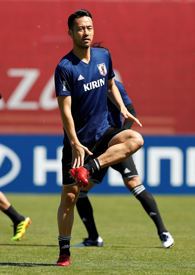 Soccer Football - World Cup - Japan Training - Japan Training Camp, Kazan, Russia - June 17, 2018 Japan's Maya Yoshida during training REUTERS/John Sibley