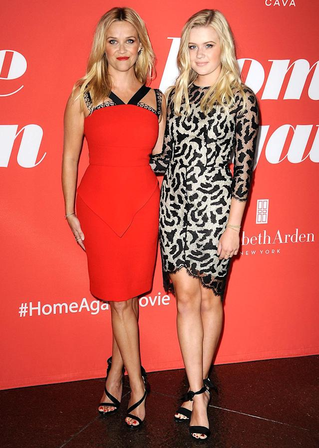 "<p>The Oscar winner brought her <a href=""https://www.yahoo.com/celebrity/reese-witherspoon-and-lookalike-daughter-ava-hit-red-carpet-together-for-the-first-time-185911353.html"" data-ylk=""slk:17-year-old daughter, Ava;outcm:mb_qualified_link;_E:mb_qualified_link"" class=""link rapid-noclick-resp newsroom-embed-article"">17-year-old daughter, Ava</a>, along for the L.A. premiere of her new rom-com, <i>Home Again</i>. Do you see a hint of dad Ryan Phillippe in the Reese lookalike? (Photo: Jason LaVeris/FilmMagic) </p>"