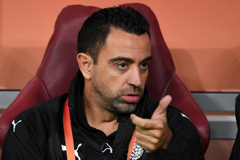 DOHA, QATAR - DECEMBER 17: Al-Sadd SC head coach Xabvier Hernandez looks on prior to the match between Al-Sadd SC and ES Tunis at Khalifa International Stadium on December 17, 2019 in Doha, Qatar. (Photo by Etsuo Hara/Getty Images)