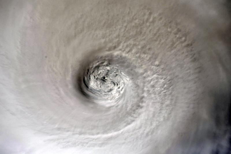 The eye of Hurricane Dorian is shown from the International Space Station orbiting more than 200 miles above the earth, as it churns in the north-western Caribbean nearing the United States mainland in this photo taken Sept. 2, 2019. (Photo: Christina Koch/NASA/Handout via Reuters)