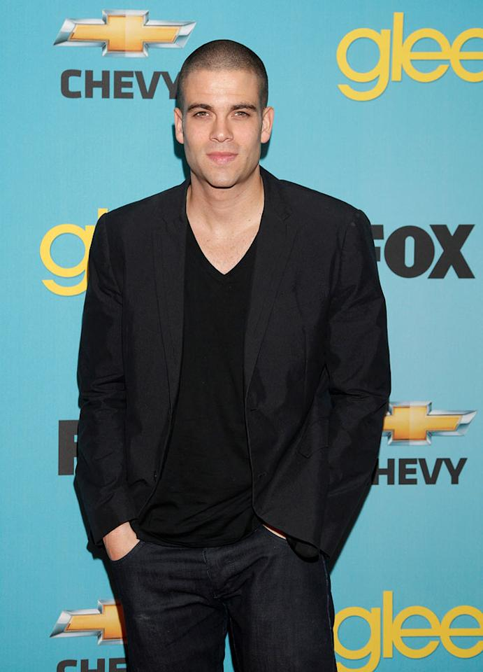 """<a href=""""/mark-salling/contributor/903239"""">Mark Salling</a> (""""Noah 'Puck' Puckerman"""") arrives at Fox's <a href=""""/glee/show/44113"""">""""Glee""""</a> Spring Premiere Soiree at Chateau Marmont on April 12, 2010 in Los Angeles, California."""